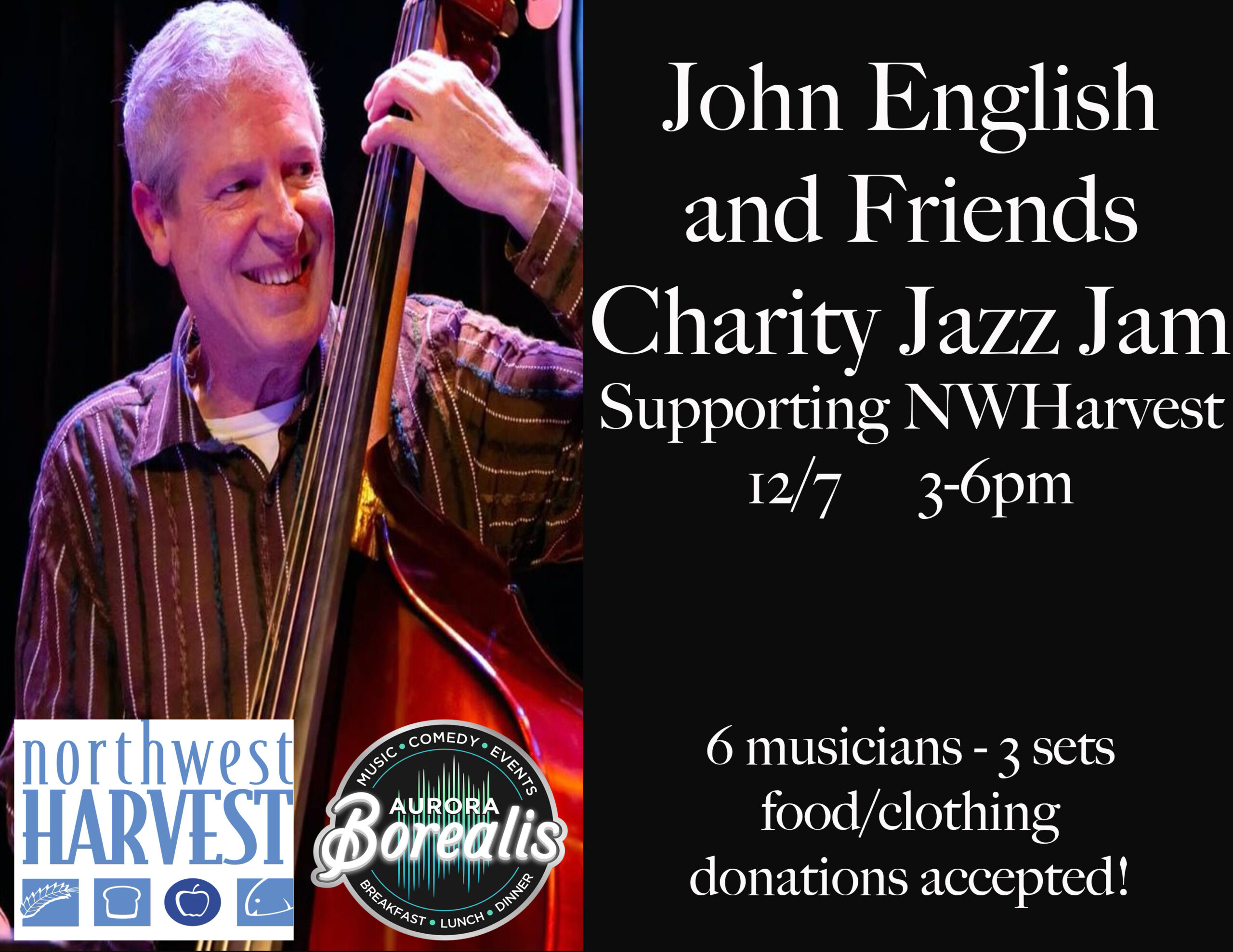 John English Charity Jazz Jam for NWHarvest
