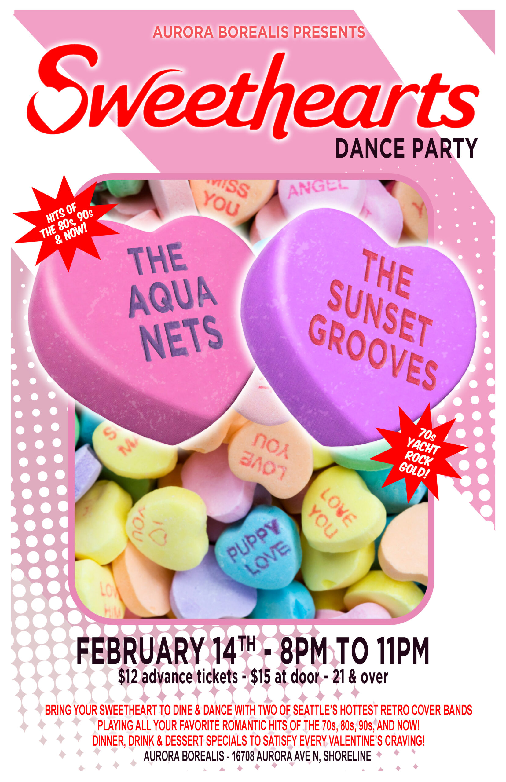 The Aqua Nets & The Sunset Grooves Sweethearts Dance